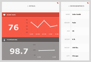 Dashboard with Grid and Shapes
