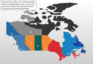 Map of Canada with HTML Tooltips