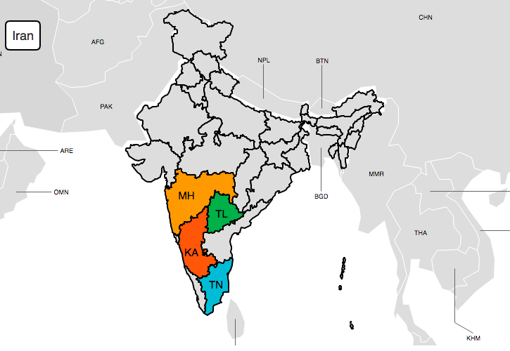 Popular ZingChart Areas In India